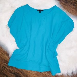 women's size large Flowy turquoise blue blouse